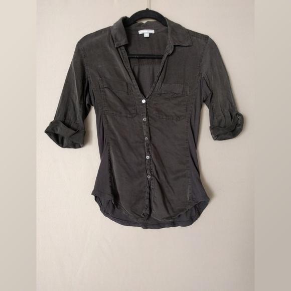 e487098a James Perse Tops | 34 Sleeve Button Down Shirt | Poshmark